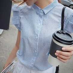 Rocho - Stripe Cap Sleeve Shirt
