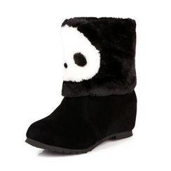 EMIL - Panda Hidden Wedge Short Boots