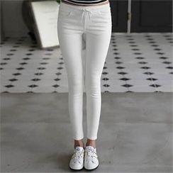 CHICFOX - Drawstring-Waist Skinny Pants
