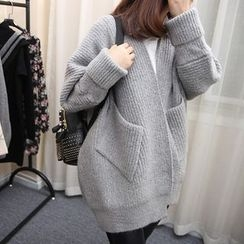 FR - Open Front Oversized Cardigan
