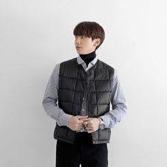 Seoul Homme - Quilted Snap-Button Vest