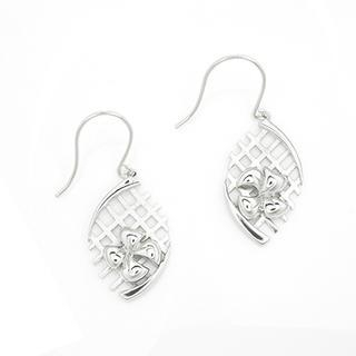 MBLife.com - 925 Sterling Silver Bow Butterfly Filigree Style Drop Fishhook Earrings