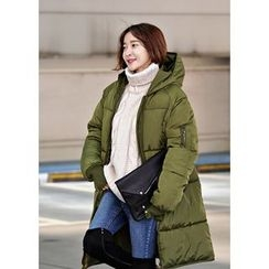 ssongbyssong - Zip-Up Padded Long Jacket
