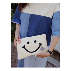 BBORAM - Smiley Face Knit Clutch