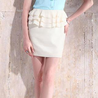 Moonbasa - Peplum Miniskirt