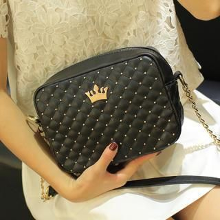 Youshine - Crown Accent Quilted Crossbody Bag