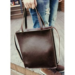 JOGUNSHOP - Square Faux-Leather Tote