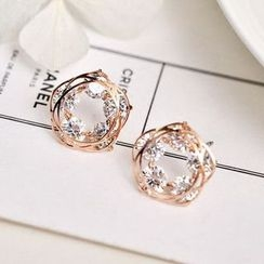 MOMENT OF LOVE - CZ Circle Earrings