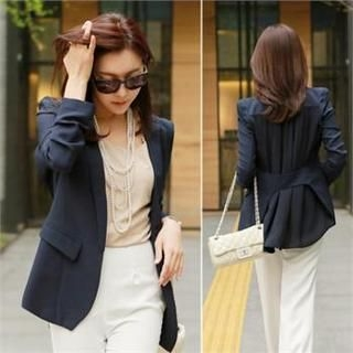 St. Mary - Pocket-Accent Chiffon Blazer