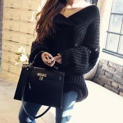 NANING9 - V-Neck Knit Sweater