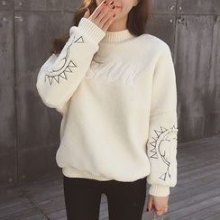 Cocofield - Embroidered Thick Sweater