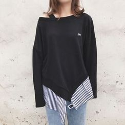Rocho - Striped Panel Sweatshirt