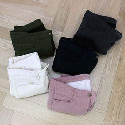 NANING9 - Brushed-Fleece Lined Skinny Pants