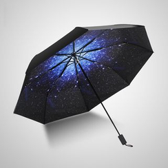 Petrichor - Galaxy Print UV Protection Automatic Compact Umbrella