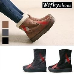 Wifky - Fleece-Lined Mid-Calf Boots