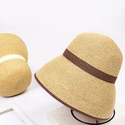 BADA - Color-Block Straw Hat