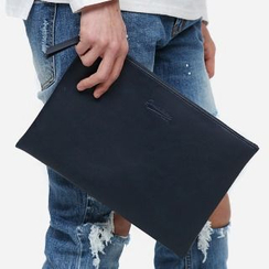 Asphalt - Faux-Leather Clutch