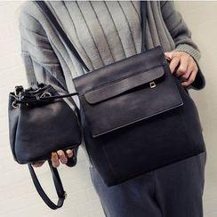 Merlain - 套裝: 仿皮背包 + 水桶包
