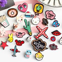 Hush Hush - Cartoon Print Brooch