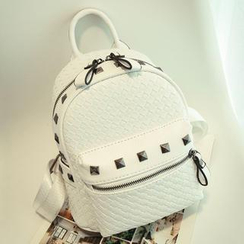 Crystal - Studded Woven Backpack