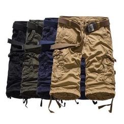 Hansel - 純色短款工裝褲