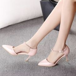 Charming Kicks - Ankle Strap High-heel Pumps