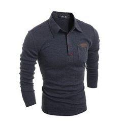 Hansel - Long-Sleeve Applique Polo