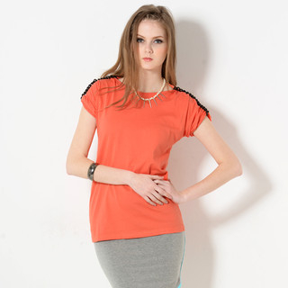YesStyle Z - Chain-Accent Short-Sleeved Top