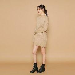 Envy Look - Mock-Neck Mini Knit Dress