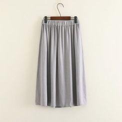 Mushi - Band Waist Midi Skirt