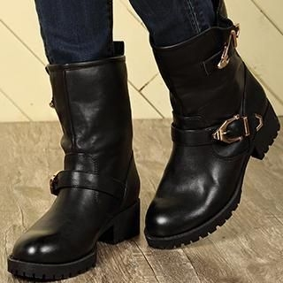 Exull - Buckled Short Boots
