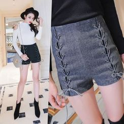 Tang House - Lace Up Shorts