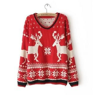 JVL - Nordic-Pattern Sweater