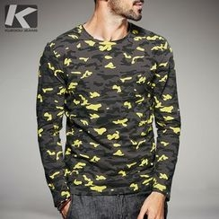 Quincy King - Camouflage Long-Sleeve T-Shirt