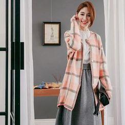 Tokyo Fashion - Plaid Chunky Cardigan