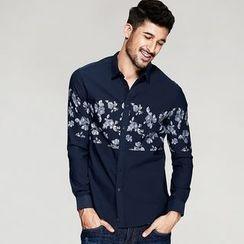 Quincy King - Floral Print Long-Sleeve Shirt