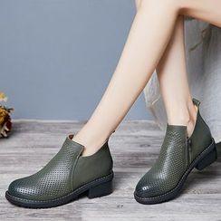 LARKSPUR - Pointelle Ankle Boots