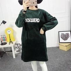 Dream Girl - Letter Applique Pullover Dress