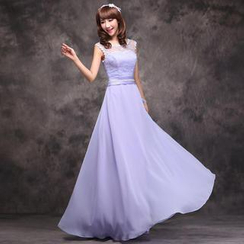 Luxury Style - Sleeveless A-Line Evening Gown
