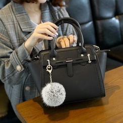 Ballerina Bags - Pom Pom Accent Handbag