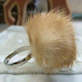 MyLittleThing - Little Faux-Fur Ring (Brown)