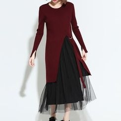 Myrtle - Ribbed Slit Long Sweater
