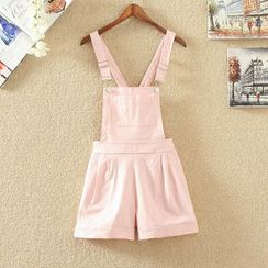 Clementine - Plain Pinafore Playsuit