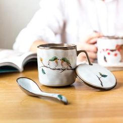 Modern Wife - Set: Printed Mug + Lid + Spoon