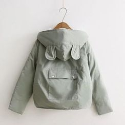 Citree - Rabbit Ear Hooded Padded Jacket
