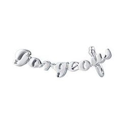 MBLife.com - Left Right Accessory - 'Gorgeous' 925 Sterling Silver Playful Word Single Earring, Women Fashion Jewelry