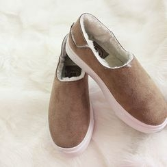 DANI LOVE - Faux-Suede Fleece-Lined Slip-Ons