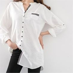 PEPER - Pocket-Detail Long Shirt