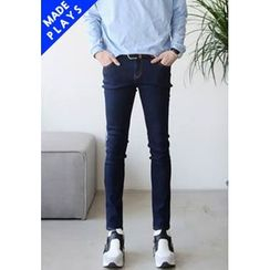 PLAYS - Stitched Slim-Fit Jeans
