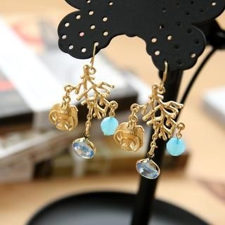 Petit et Belle - Aquatic Chandelier Earrings